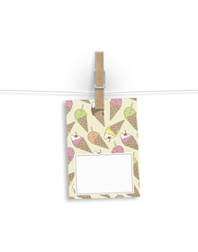 Ice Cream patterned Gift tags