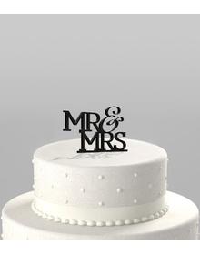 Mr & Mrs - Cake Topper