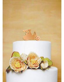 Bride & Groom Wromm wroom Bike Cake Topper