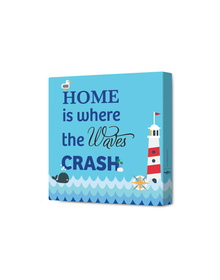 Home Is Where The Waves Crash Canvas