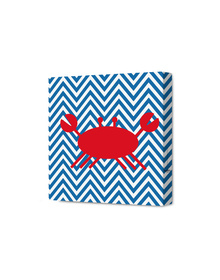 Crab on a chevron bed Canvas