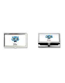 Mr Owl business card holder