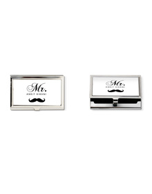 Mr Moustache business card holder - Personalised