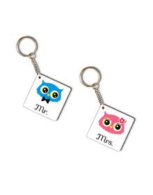 Mr & Mrs Owl key-chain set