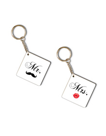 Mr & Mrs Pout and stash keychain set