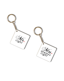 Mr. Right & Mrs Always Right keychain set