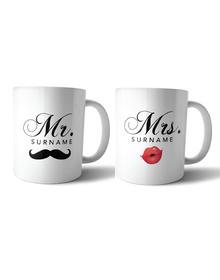 Mr & Mrs Pout and stash mug set
