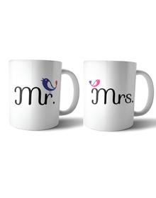 Mr & Mrs Birdie mug set
