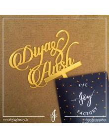 Divya & Ansh Wedding Cake topper