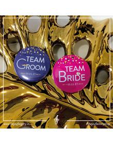 Team Groom & Team Bride Badges