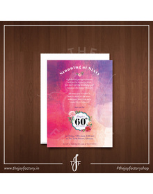 Stunning at 60 surprise party invites