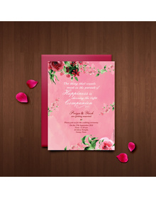 Pretty Floral wedding save the date
