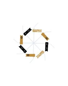 Gold & Black -Anniversary - Straws