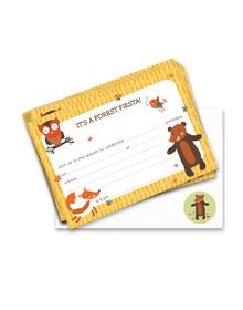 Forest Fiesta- Birthday - 20 Invitations