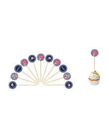 Nautical Floral - Let's Celebrate - Cupcake Toppers