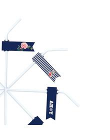 Nautical Floral - Let's Celebrate  - Straws