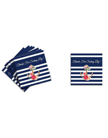Nautical Floral - Let's Celebrate -Thank You Tags