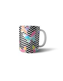 Watercolor butterflies mug