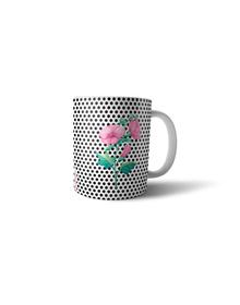 Flowers and dots mug