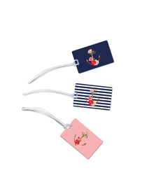 Nautical Floral luggage tags