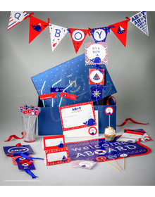 Nautical - It's A Boy- Party In A Box