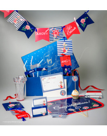 Nautical Floral-Let's Celebrate - Party In A Box