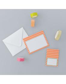 Orange chevrons -  Stationery Set