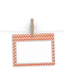 Orange chevrons - notelets