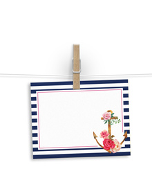 Nautical floral - notelets