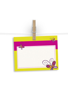 Happy butterflies -  notelets