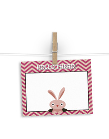 Peek-a-boo bunny  - notelets