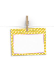 Yellow scallops pattern - notelets