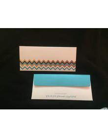 Textured Cash Envelopes- Chevron patterned- Set of 50