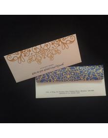 Metallic Cash Envelopes- Blue & gold Ornate  - Set of 50