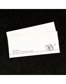 Textured Cash Envelopes- Monogram - Set of 50