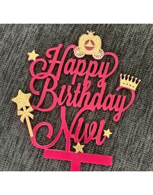 Princess - Pink & Gold Cake Topper