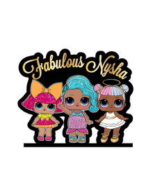 LOL dolls Cake topper Stand