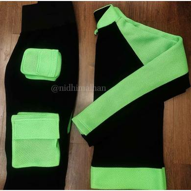Utility Patch Pocket Track Suit-Black-1