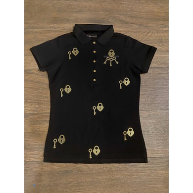 Black & Gold Polo - Lock & Key Collection-DQ0089