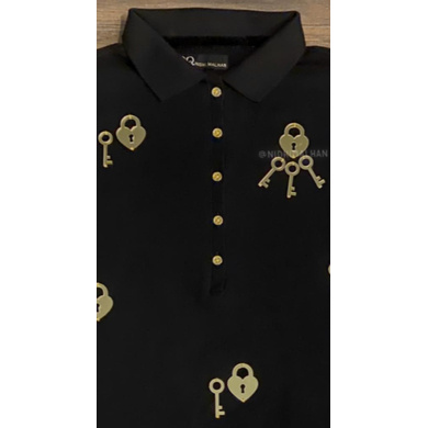 Black & Gold Polo - Lock & Key Collection-M-1