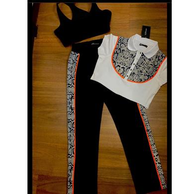 Snake Print 'Stay at Home' set - Pants & Polo-1