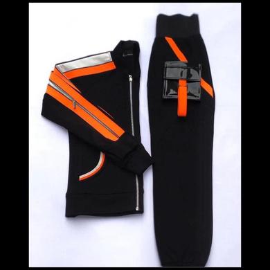 Black and Orange Track Suit-DQT01-S