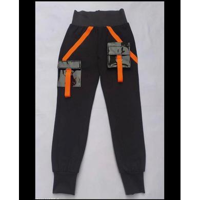 Black and Orange Track Suit-S-2