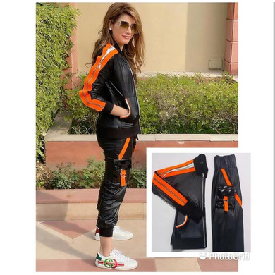 Black and Orange Track Suit-S-1